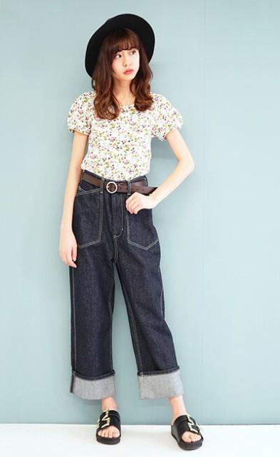 e-zakkamania stores2017SSコーデ★花柄×デニム