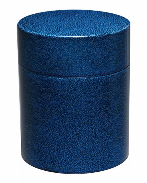 紀州漆器 茶筒(大) るり小紋 23673b[fs01gm]...