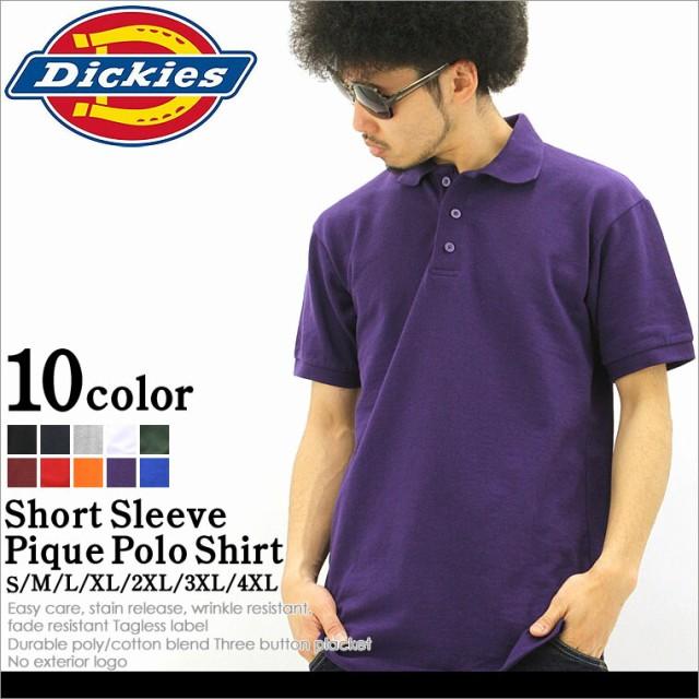 Dickies ディッキーズポロシャツ メンズ 半袖 無...