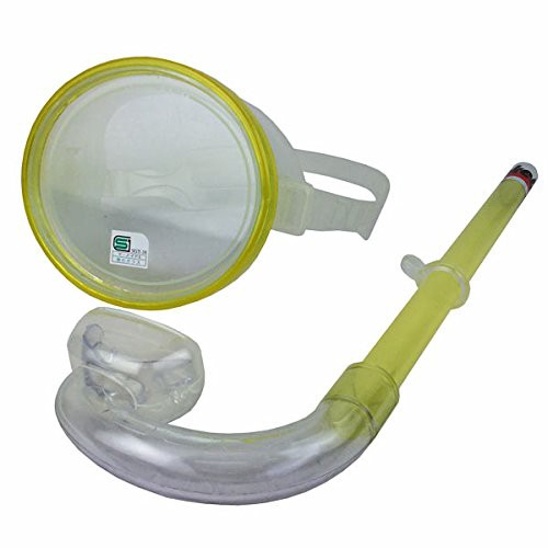 水中眼鏡スノーケルセット 大人用 YD-315K イエ...