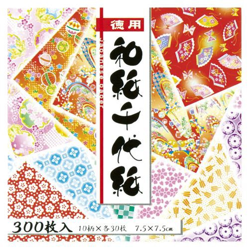 (まとめ買い)トーヨー 徳用和紙千代紙7.5cm300...