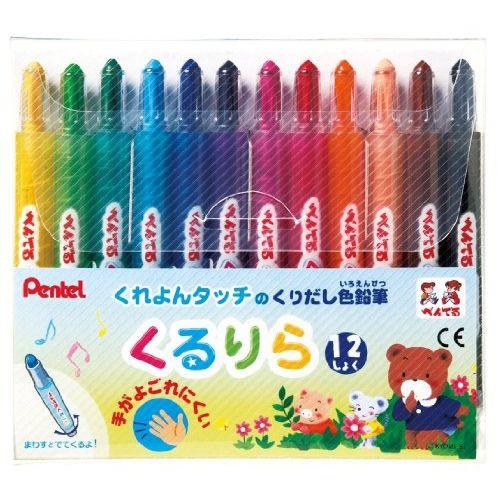 【メール便発送】ぺんてる 色鉛筆 くるりら GTW-1...