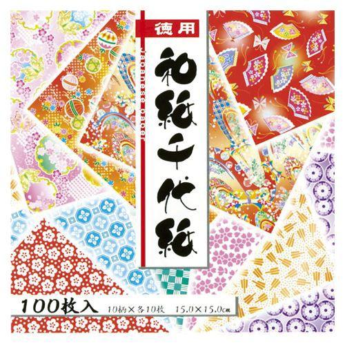 【メール便発送】トーヨー 徳用和紙千代紙15cm100...