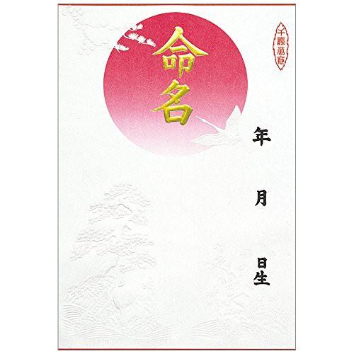 ササガワ 命名紙 B4判変形 金字・浮出柄 28-411 0...