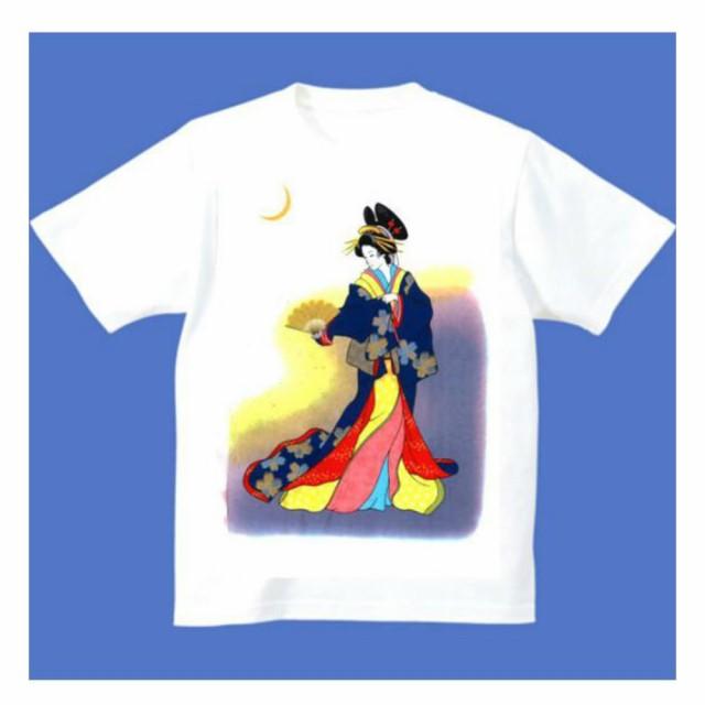 FJK 日本 お土産 Tシャツ 浮世絵 (ホワイト)No....