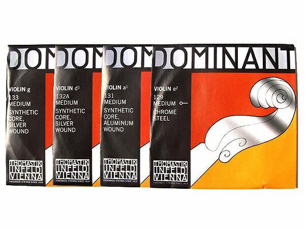 Thomastik INFELD DOMINANT バイオリン弦【4/4用】 E線129(ボールエンド)・A線131・D線132A・G線133 / EADGセット