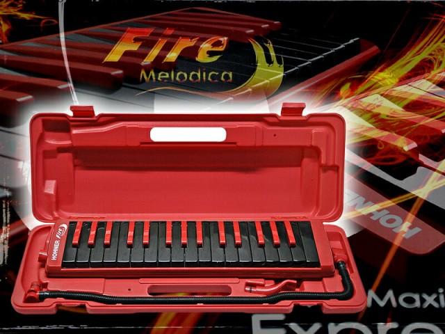 「FireMelodica」(赤=RED)ファイヤーメロディ...