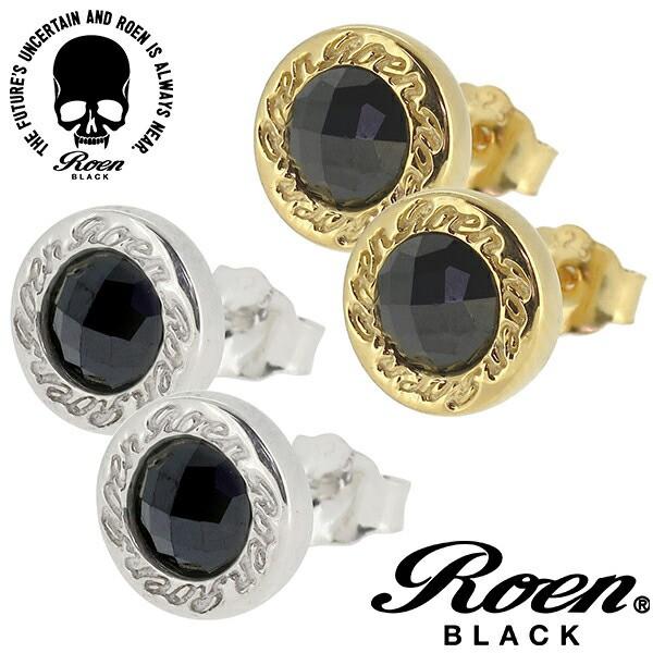【Roen BLACK】円形 カットブラックジルコニア シ...