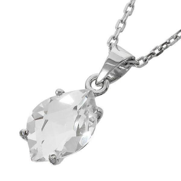 ロシア産 カット水晶 シルバーネックレス /天然石...