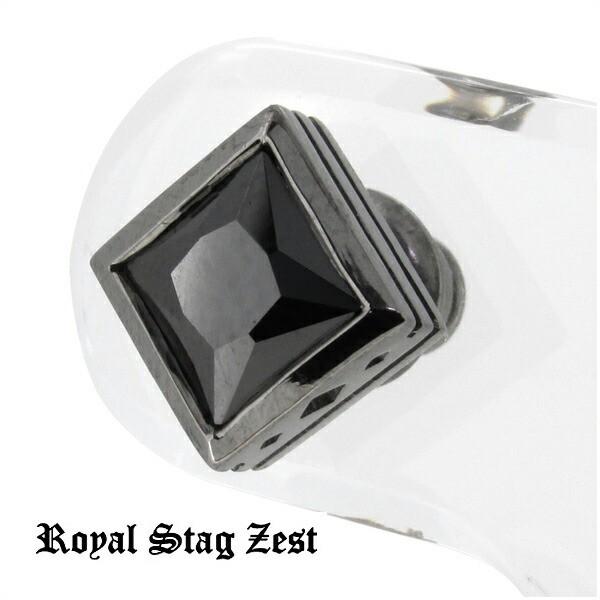 【Royal Stag ZEST】 ブラック ジルコニア スクエ...