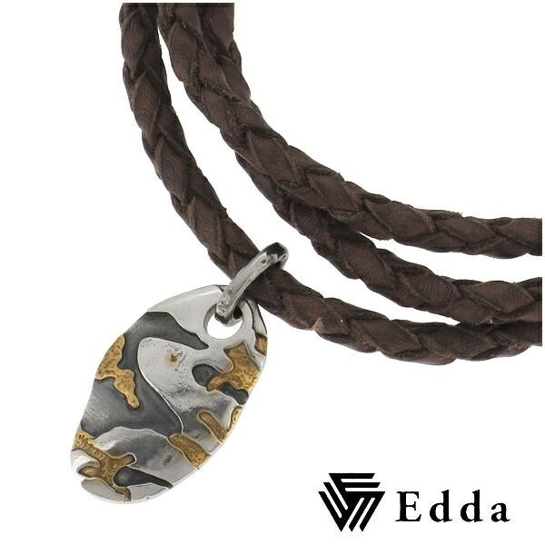 【Edda/エッダ】ツートンカラー 迷彩 革紐 オーバ...