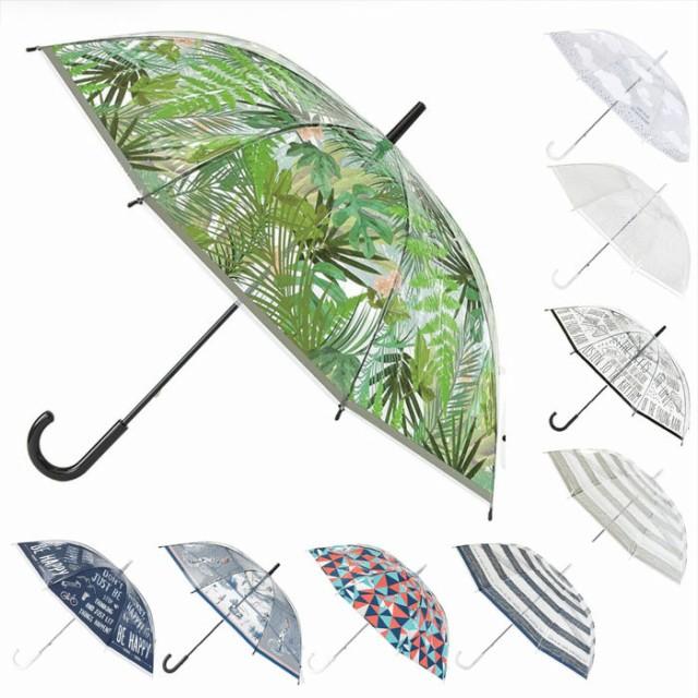 ビニール傘 かわいい 傘  レディース 透明ビニー...