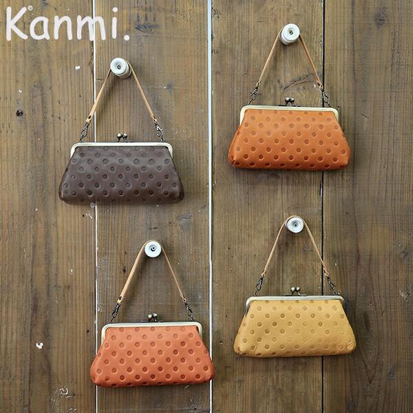ポルカドットガマグチポーチ【 Kanmi. 】【カンミ...