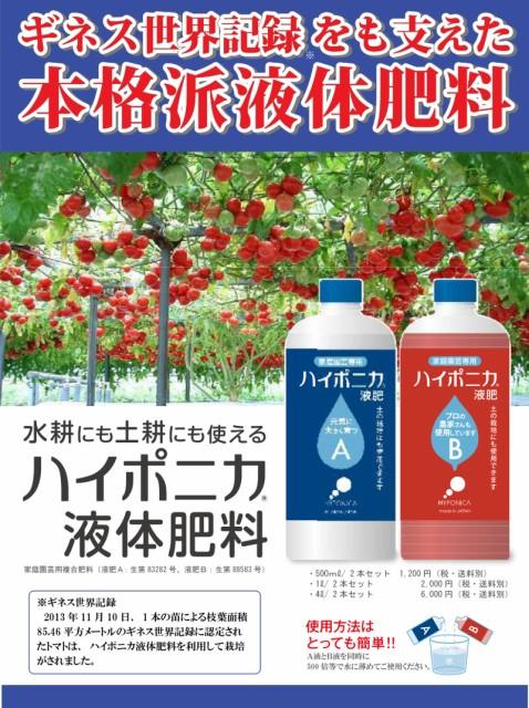 ハイポニカ液体肥料 500ml A液B液2本セ...