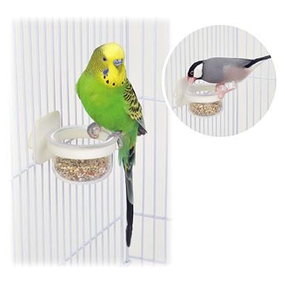 小鳥のマルチカップ ミニ/小鳥用食器 エサ入れ 文...