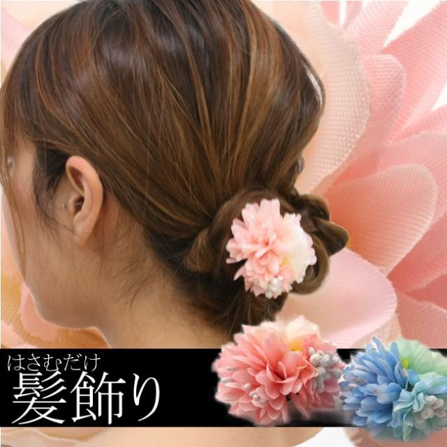 ヘアクリップ 花 和柄 髪飾り 3面花■■【H42-】...