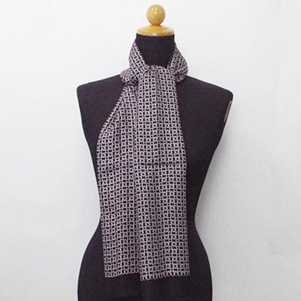 レノマ シルク 長方形スカーフ ブラック 未使用 ...