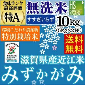 [送料無料]28年産無洗米特別栽培米滋賀県産みずか...
