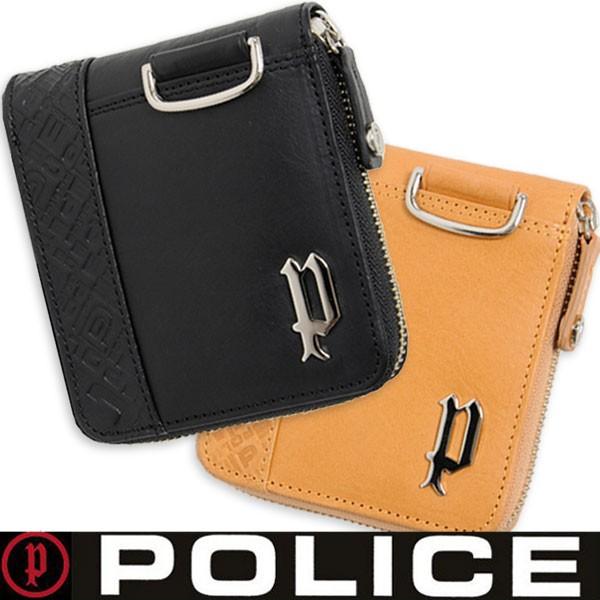 POLICE(ポリス)メンズ二つ折り財布 ラウンドフ...