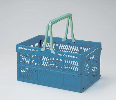 【ブルー】ピクニックル 折りたたみコンテナ L...