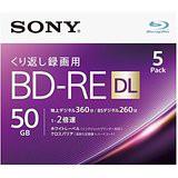 送料無料!ソニー 2倍速対応BD-RE DL 5枚パック ...