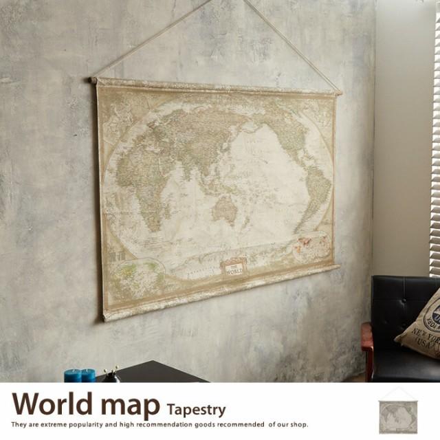 【g1946】タペストリー 世界地図 地図 壁掛け ア...