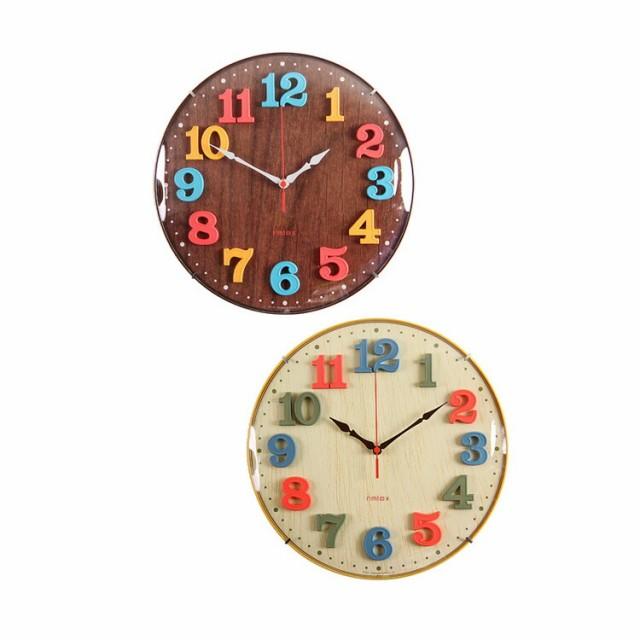 電波時計 エアリアルキッズ W-618 掛け時計 壁掛...