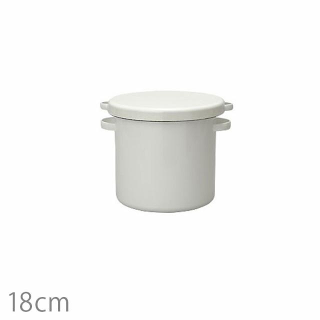 野田琺瑯 WhiteSeries ラウンドストッカー18cm 野...