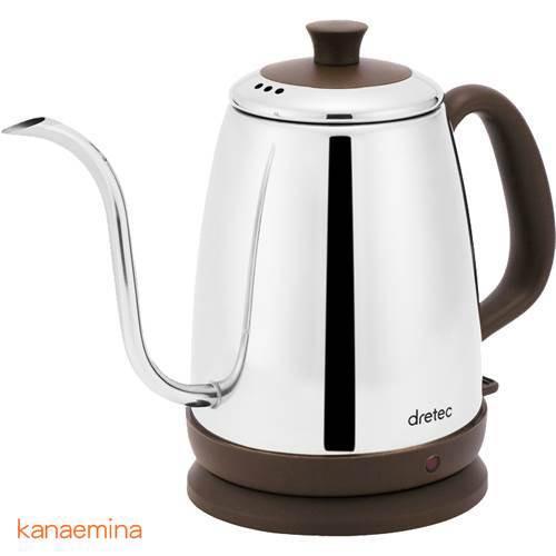 コーヒーポット 細口 電気湯沸かしケトル ステン...
