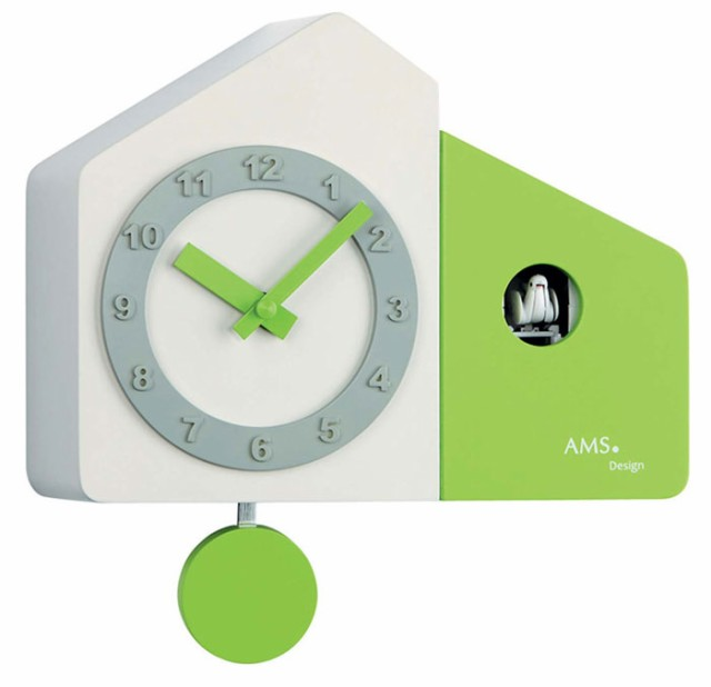 AMS アームス 壁掛け時計 ams-7395 アナログ ドイ...