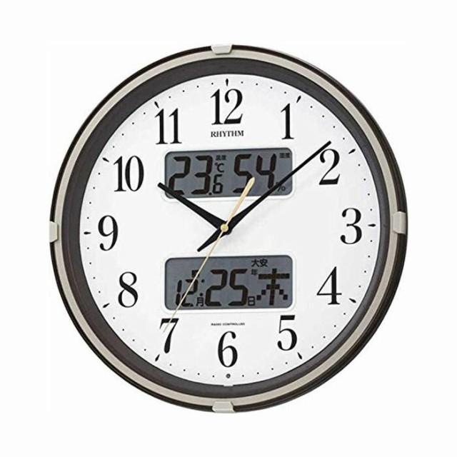 リズム時計工業 RHYTHM 電波壁掛け時計 フィット...