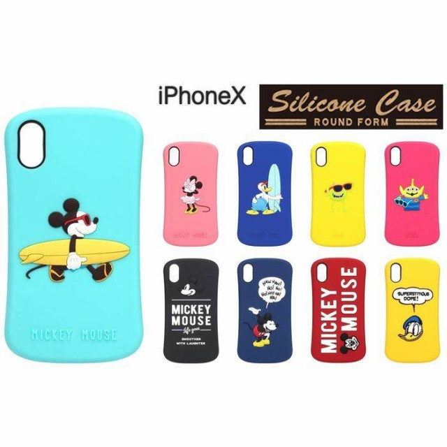 iPhoneX ソフト ケース 用 Disney ディズニー シ...