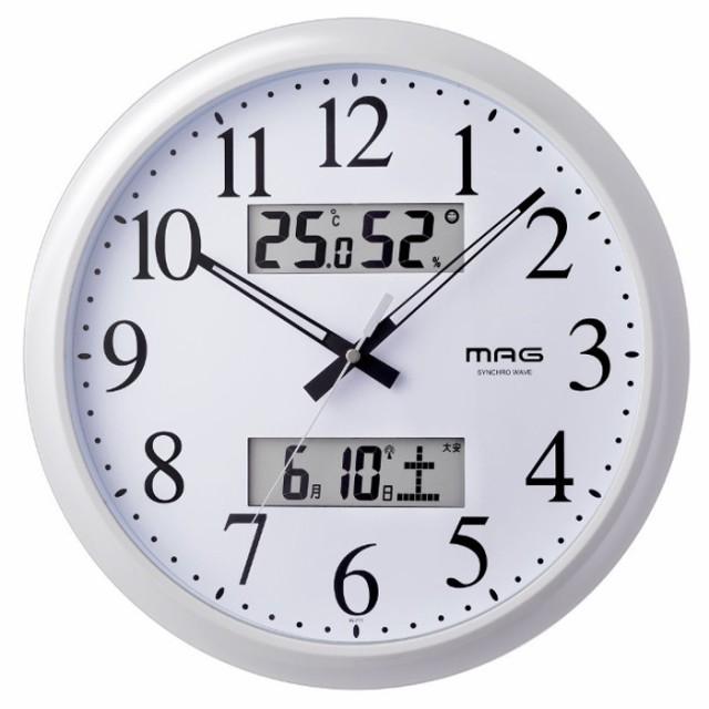 電波時計 温室時計付き 掛け時計 ダブルリンク ノ...
