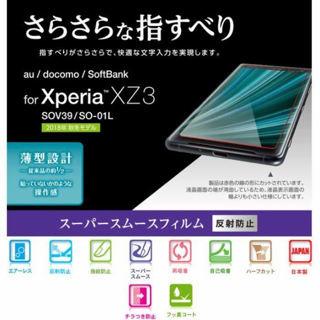 Xperia XZ3 SO-01L SOV39 SoftBank 液晶保護フィ...