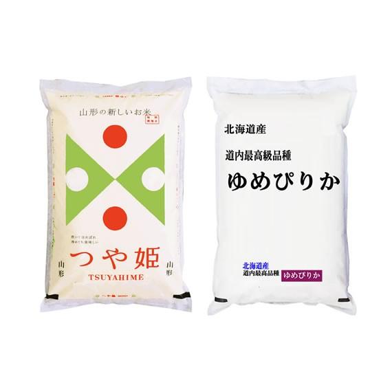 【送込】28年産米の食べ比べセット 北海道産ゆめ...