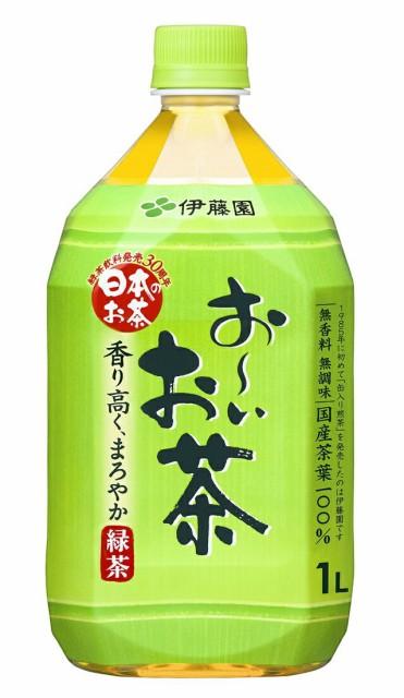 『送料無料(一部地域除く)』お〜いお茶 緑茶1L(...