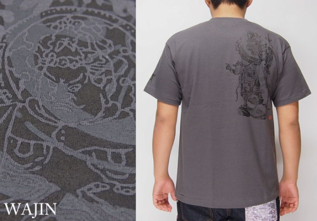 Wajin[大黒] 増長天 プリント 和柄Tシャツ/半袖/...