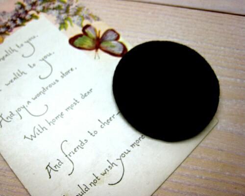 ベロアモチーフL ブラック[oth-btn-002bk]