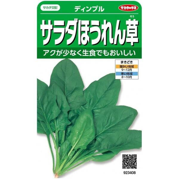 サカタのタネ サラダほうれん草 ディンプル  25...