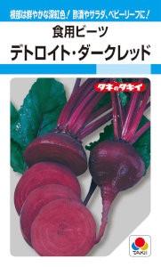 タキイ交配 食用ビーツ デトロイト・ダークレッ...
