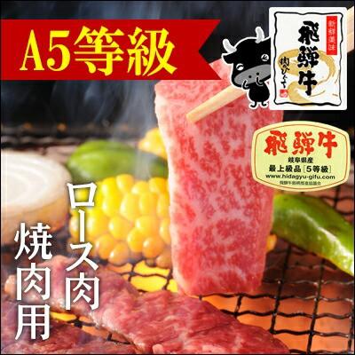 【A5等級】飛騨牛ロース肉焼肉用500g×1パック
