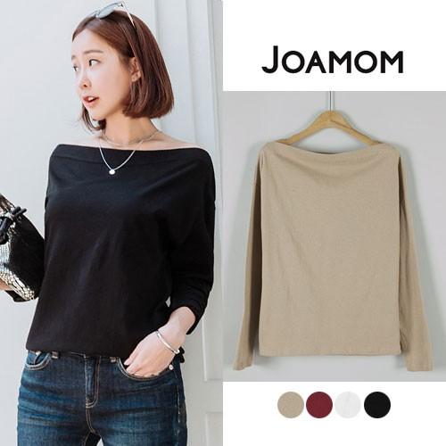 JOAMOM(ジョアマン)ワイドボートネックTシャツ  T...
