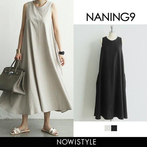 【NANING9】2wayリネンワンピース【5】 リネン ロ...