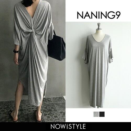 【NANING9】バックコンシャスロングワンピース【5...