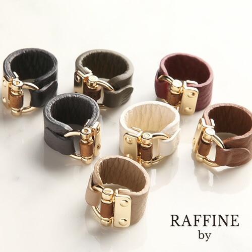 RAFFINE by(ラフィーネバイ)ベルト風レザーリング...