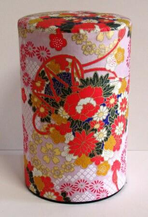 【かわいい和紙和染茶筒】日本製100g用長型