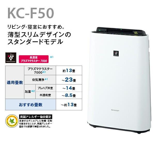 KC-F50W 加湿空気清浄機 薄型スリムモデル KC-...
