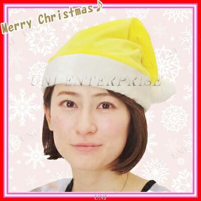 Patymo クリスマスサンタ帽子 イエロー コスプレ ...