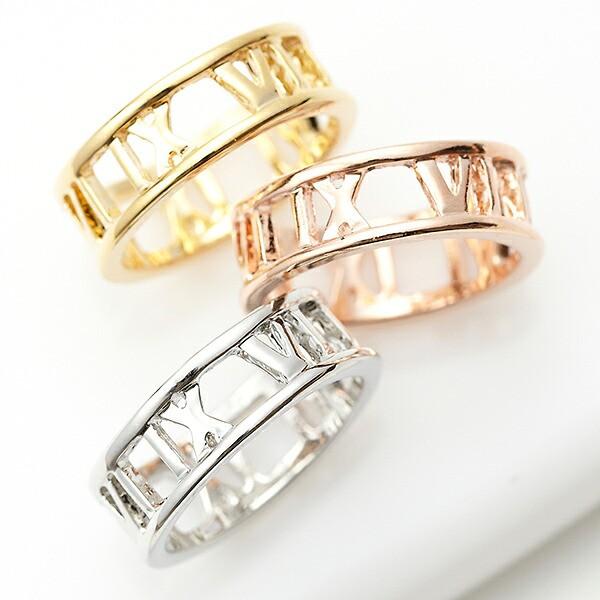 レディースリング 指輪 ローマ数字 ギリシャ数...