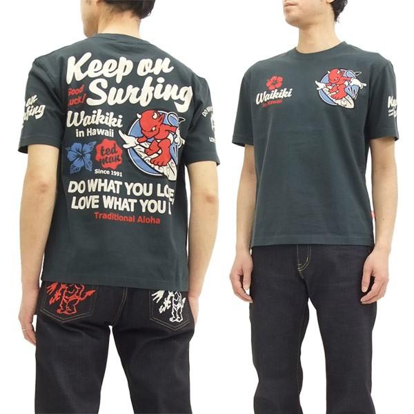 テッドマン Tシャツ TDSS-461 サーフィン柄 TEDMA...